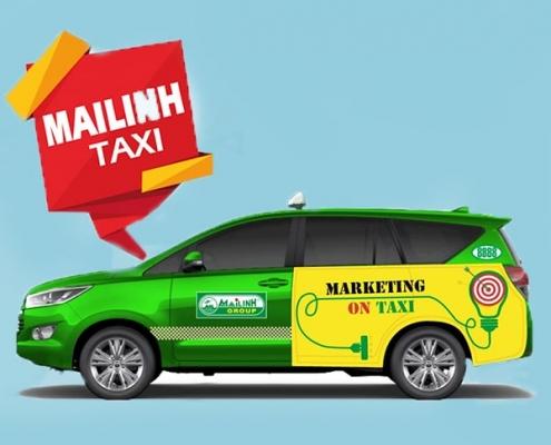 bảng giá quảng cáo bất động sản trên taxi Mai Linh