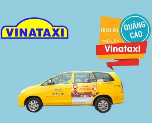 quảng cáo bất động sản trên taxi Vinataxi